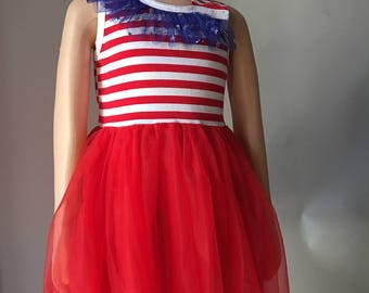 4th July dress girl dress cotton 3T-4T 50% off