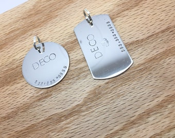 """1.25"""" Large to XL Dog Tag Custom Pet Id Tag Pet Tag Dog Collar Dog Tag for Dog Personalized Tag Steel Dog Tag Custom Pet Tag Large Dog"""