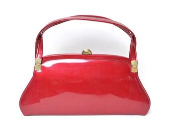 Vintage 1950s Purse Cherry Red 50s Handbag
