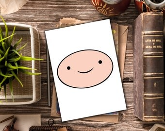 INSTANT DOWNLOAD / Adventure Time stationary / Finn the Human blank card / Adventure Time blank card / Finn the Human stationary