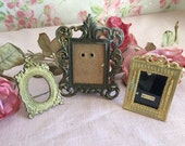 Vintage Metal Frames - Made in Italy Frame - Ornate Gold Metal Frames - Set of 3 Metal Frames