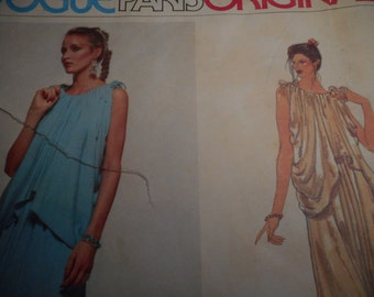 Vintage 1970's Vogue 2015 Paris Original Pierre Balmain Grecian Style Gown Sewing Pattern Size 10 Bust 32 1/2