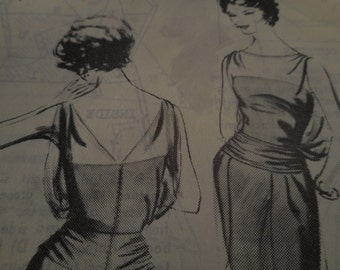 SALE Vintage 1960's Spadea T8 Travilla Dress Sewing Pattern Size 10 Bust 34