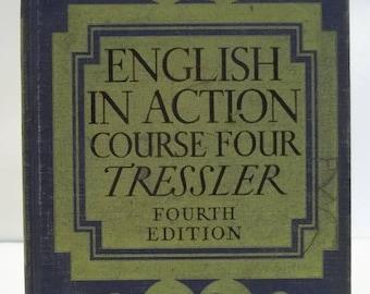 Vintage 1945 English Action Course 4 School Book