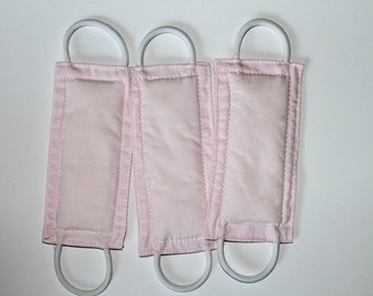 Solid Baby Pink handmade nursery gift, baby room decor, door knob stopper, cotton, padded, door cushion, door guard PATENTED LATCHY CATCHY