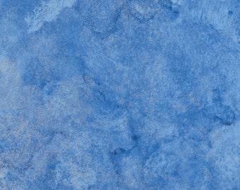 Northcott Stonehenge Light blue and Metallic Silver Marble - 20106M-49 - 1 yard - OOP, Destash, Quilting fabric