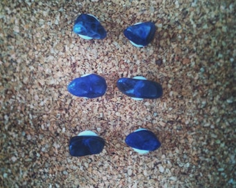 Sodalite Stone Thumb Tacks - Set of 6