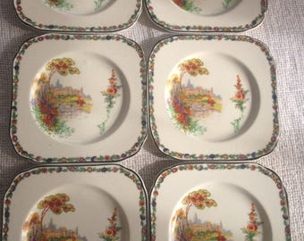 H K Tunstall Vintage Luncheon China set with 8 pieces