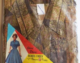 1950s shirtwaist dress in original package