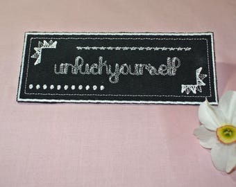 Unfuckyourself Chalkboard Style Patch Iron-on Pretty and Bold Custom Colors Phrases and Styles Available