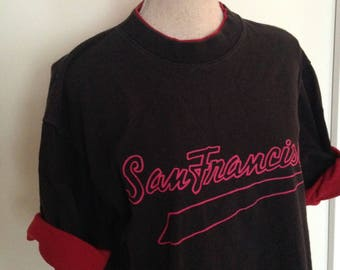Vintage San Francisco 1993 Roll-up Sleeve Tshirt