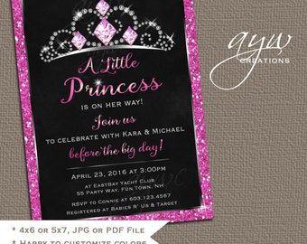 Princess Baby Shower Invitation Glitter Princess Baby Shower Invitations Printable Invitation Printable Baby Shower Princess Invitations