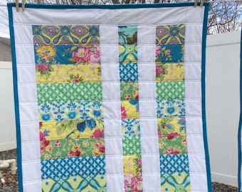 Colorful Floral Baby Quilt