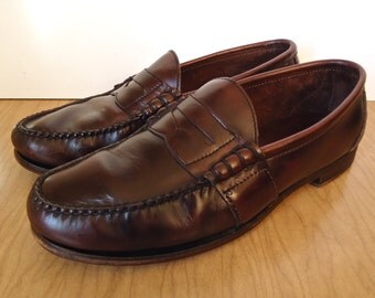 Ralph Lauren Penny Loafers / vintage Polo oxblood weejuns, cordovan moccasins / US men's 10