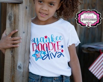 Yankee Doodle Diva, Fourth July Shirt, Girl Fourth July Shirt, My First Fourth July, First Fourth July