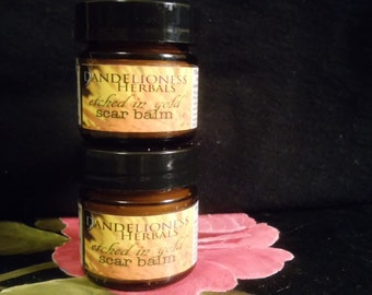 SALE Etched in Gold Scar Balm: Calendula Salve with Palestinian Olive oil, White Pine sap, and Helichrysum essential oil