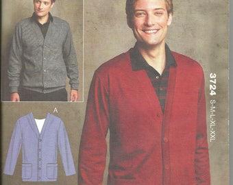 Kwik Sew 3724 new and uncut size S - XXL mens sweater/cardigan