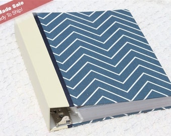 Pre-Made - Blue Chevron - 1st Year Deluxe - Standard 3-Ring Binder
