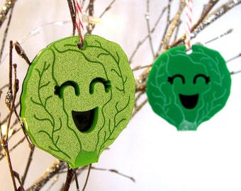 Brussel Sprout Christmas Tree Decoration - Alternative Christmas - Christmas Tree