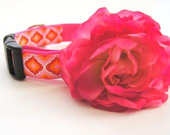 Pink Rose Dog Collar Attachment