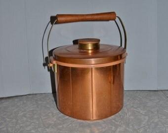 Copper Ice Bucket ~ Mid Century Barware ~ Vintage Ice Bucket ~ Epsteam