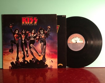 KISS Destroyer Vinyl Record Album LP 1976 Rare Error Pressing Blue Label Sterling Hard Rock Heavy Metal Near Mint - Condition Vintage