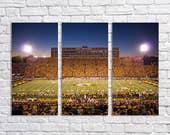 Faurot Field - 3 Panel Canvas Triptych - 20x30 Total Size