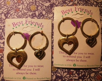 2 Best Friends Key Rings Key Chains