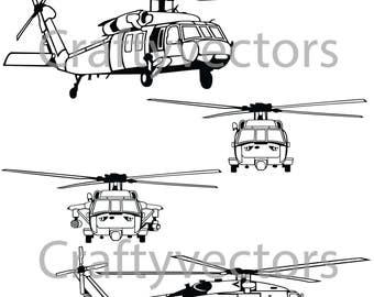 Sikorsky SH-60 Seahawk Vector File SVG