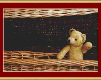 Old Teddy Bear II Cross Stitch Pattern