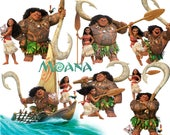 Best collection of 70 MOANA clipart - 70 high quality MOANA CLIPART - 70 Moana Graphics !!! several frames included !!!