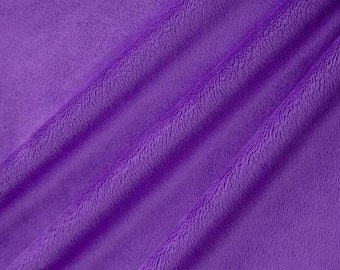 Cuddle Solid Purple from Shannon Fabric DR131202