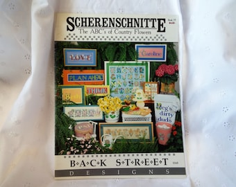 Scherenschnitte The ABC's of Country Flowers by Back Street Designs Book 19