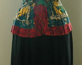 "1940s Rayon Crepe Print Dress - ""Detailed Darling"""
