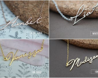 Personalized Name Necklace-Custom Name Necklace-Custom Name Gift-Your Name Necklace-Bridesmaids Jewelry-Children Names-Birthday Gift. #NF47