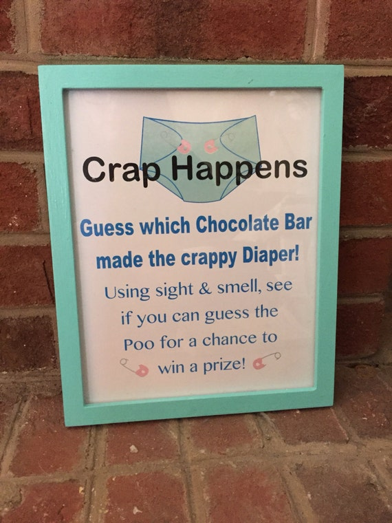 Baby Showers What Happens ~ Baby boy shower or sprinkle crap happens game