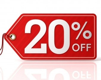 20 % off entire store