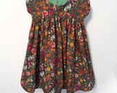 Girls Size 3 Floral Dress Bari J Art Gallery Fabric Grey Multi