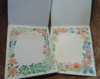 Vintage Recipe Cards Folding Pad - 16