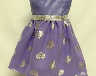 Purple Formal Dress for 18 inch doll like the American Girl.