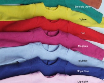 "SALE Ready to Ship - Long Sleeves basic T-shirt for 16/17"" Sasha/Gregor"
