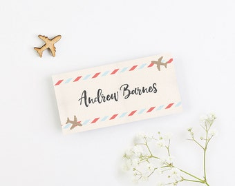 Travel Collection - Plane Folded Wedding Place Card