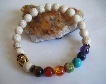 Spiritual Inspirational Healing Chakra Mala Men's Bracelet Wellness Oneness Cosmic Buddha Bead Yoga Yogini Awareness Light Love