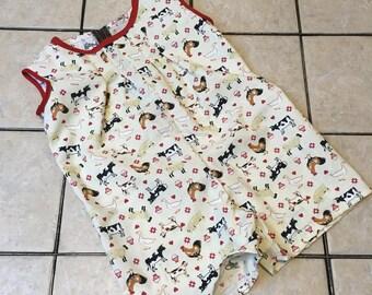 Baby Boy Jon Jon Farm Animal Themed Outfit 18 Months Toddler
