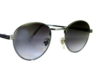 Round Sunglasses, P3 Sunglasses, John Lennon Glasses, Gatsby Sunglasses, O'Malley Sunglasses, 1980s, 1920s, Silver, Gunmetal