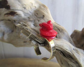 RING coral - Turquoise ring