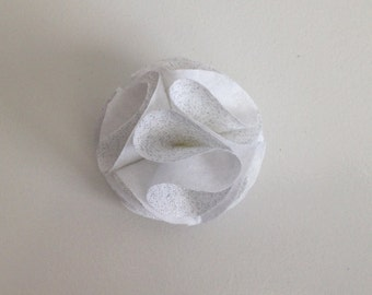 Sparkly White Lapel Flower, Lapel Pin
