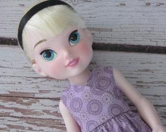 "Dress fits Disney 15"" Toddler/Animator dolls-Kimono Style Lavender Medallions-Handmade-Ready to ship-Elsa,Cinderella"