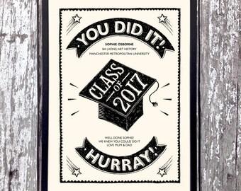 Personalised Graduation Gift | Graduation 2017 Gift | Graduation Print | Grad 2017 Gift | Personalised Grad 2017 Gift | Graduation Gift