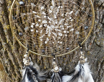 Mother Goddess Gold Bohemian Tribal 6 Inch Dream Catcher from The Emerald Lotus